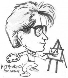 Alphonso the young artist caricature