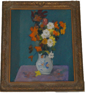 Alphonso's first still-life oil painting