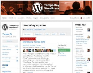 screen-shot of the WordPress Meetup Website