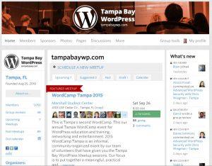 screen-shot of the WordPress Meetup Website