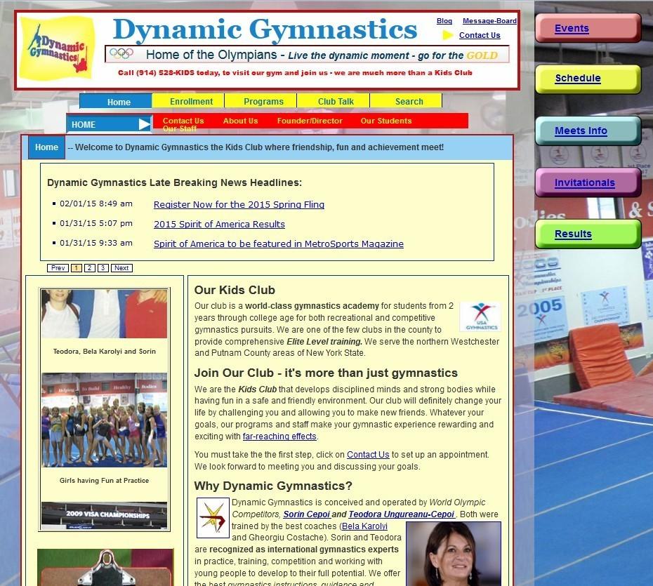 dynamic gymnastics webite