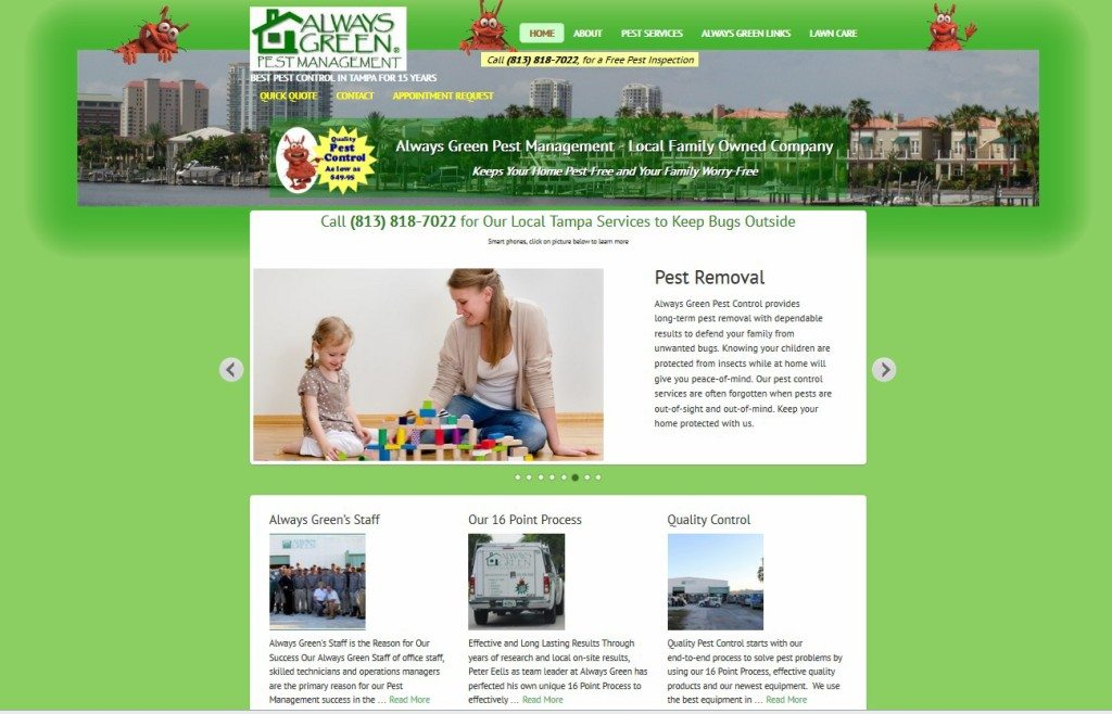 always green pest management website
