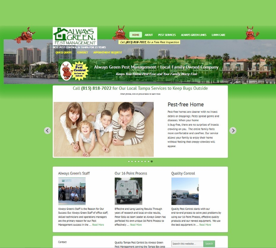 always green pest management website