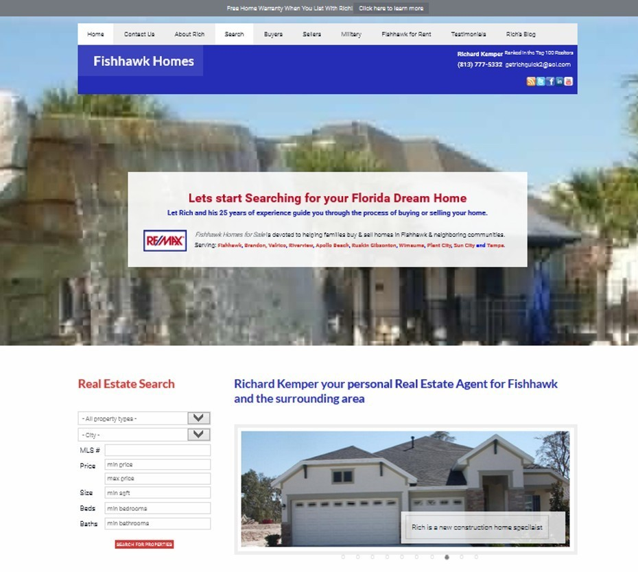 fishhawk homes for sale website