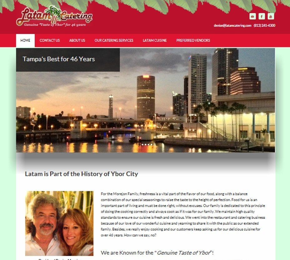Latam Catering website