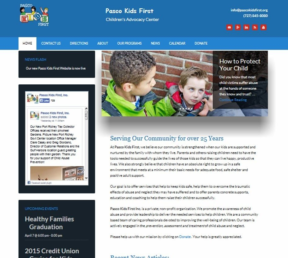 pasco kids first website