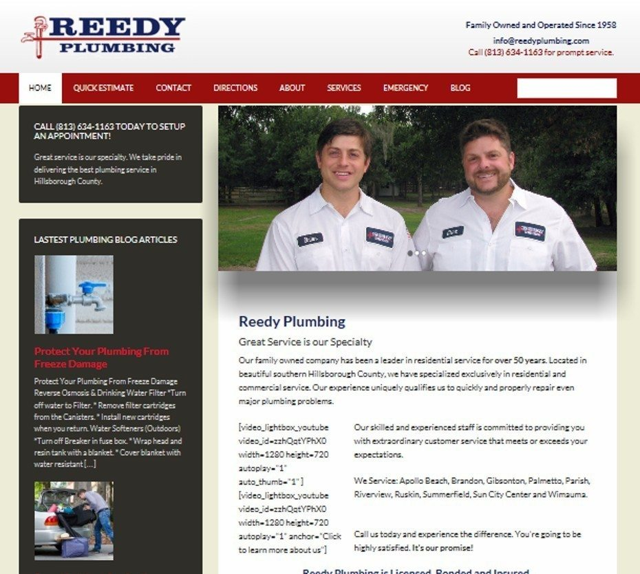 reedy plumb website