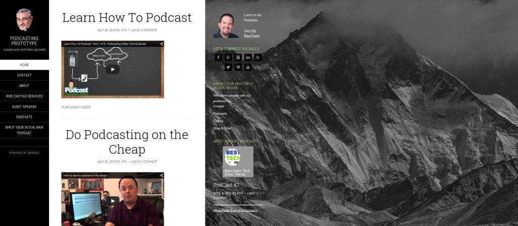 Podcasting Prototype Website