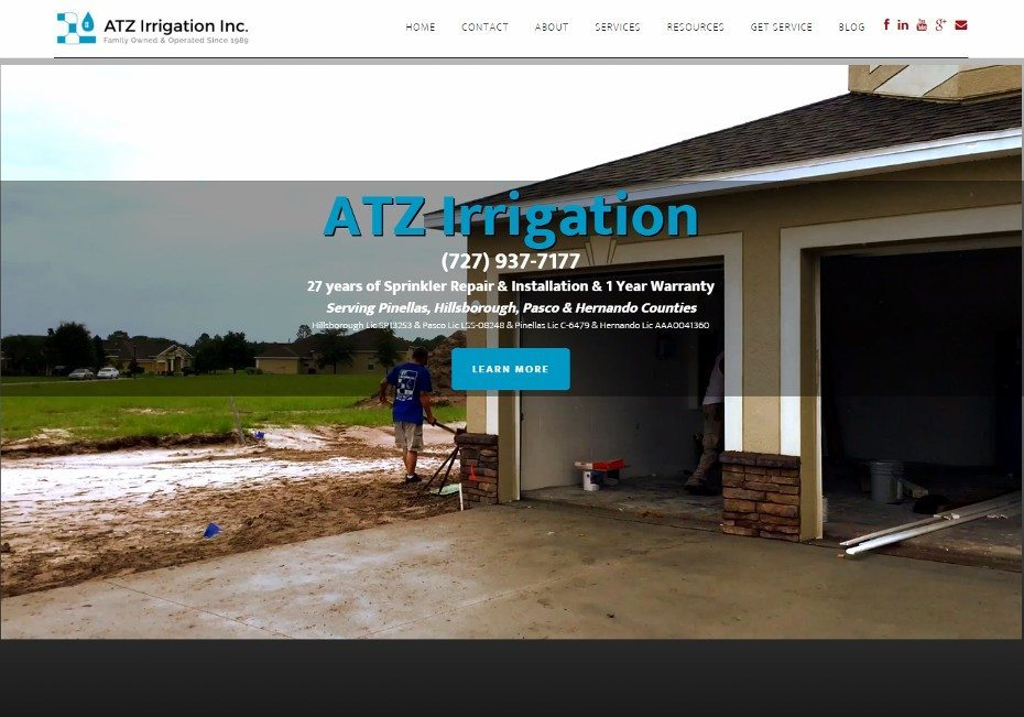 ATZ Irrigation - tampa bay's sprinkler repair and sprinkler installation