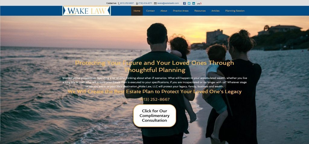 website for wake law estate planning