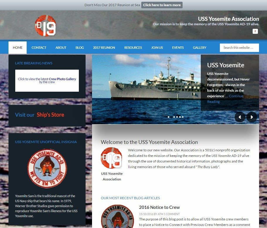 uss yosemite association website