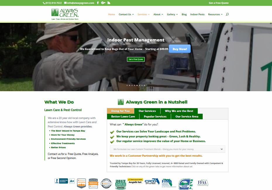 always green website